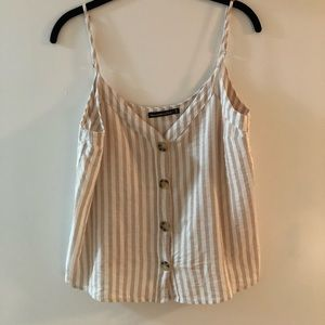 Striped Abercrombie & Fitch Button Up Cami, Size M